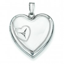 Heart Design Family Locket in Sterling Silver