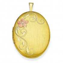 Gold Plated Floral Locket in Sterling Silver