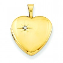 Gold Plated Diamond Heart Locket in Sterling Silver