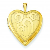 Gold Plated Heart Locket in Sterling Silver