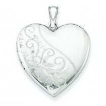 Scrolled Heart Family Locket in Sterling Silver