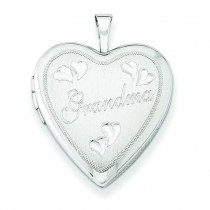 Grandma Heart Locket in Sterling Silver