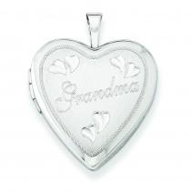 Grandma Heart Locket in Sterling Silver