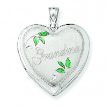 Grandma Family Heart Locket in Sterling Silver