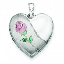 Rose Locket in Sterling Silver