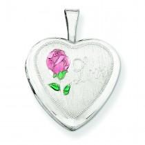Love Heart Locket in Sterling Silver