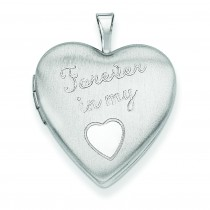 Forever In My Heart Locket in Sterling Silver