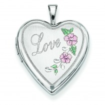 Love Heart Locket in Sterling Silver