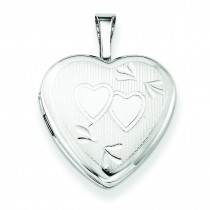 Double Hearts Heart Locket in Sterling Silver