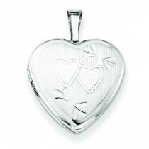 Double Hearts Heart Locket in Sterling Silver