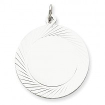 Engraveable Disc Charm in Sterling Silver