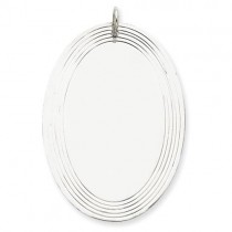 Engraveable Oval Disc Charm in Sterling Silver