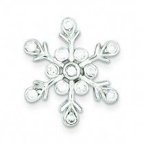 CZ Snowflake Pendant in Sterling Silver