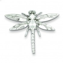CZ Dragonfly Pendant in Sterling Silver