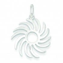 Sun Burst Pendant in Sterling Silver