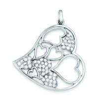 CZ Pendant in Sterling Silver