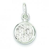 Swarovski Crystal Pendant in Sterling Silver