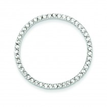 CZ Chain Slide Pendant in Sterling Silver