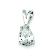 Pear CZ Pendant in Sterling Silver