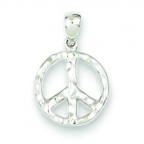 Peace Pendant in Sterling Silver