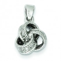 CZ Love Knot Pendant in Sterling Silver