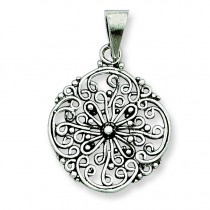 Antiqued Filigree Pendant in Sterling Silver