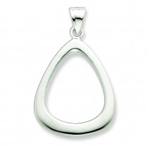 Triangular Shaped Fancy Pendant in Sterling Silver