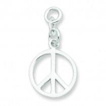 Peace Charm in Sterling Silver