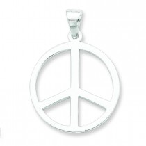 Peace Symbol Pendant in Sterling Silver