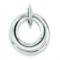 Diamond Accent Multi Circular Pendant in Sterling Silver