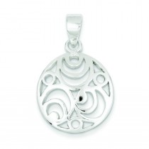 Filigree Pendant in Sterling Silver