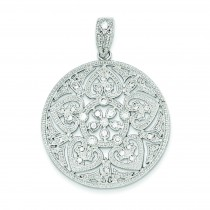 Big Pave CZ Pendant in Sterling Silver