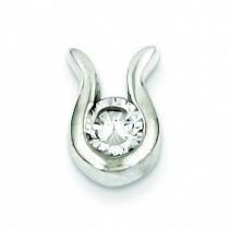 CZ Pendant in Sterling Silver