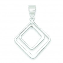 Diamond Shape Pendant in Sterling Silver