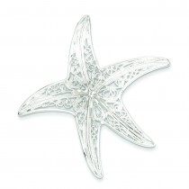 Fancy Star Pendant in Sterling Silver