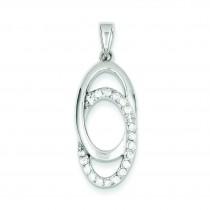 CZ Fancy Pendant in Sterling Silver