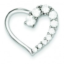 CZ Heart Journey Pendant in Sterling Silver