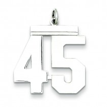 Large Number 45 in Sterling Silver