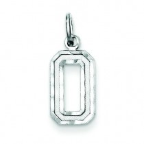 Diamond Cut Charm in Sterling Silver