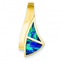 On Regular On Fancy Opal Pendant in 14k Yellow Gold