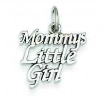 Mommy Little Girl Charm in 14k White Gold