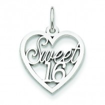 Sweet Heart Charm in 14k White Gold