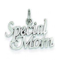 Special Mom Charm in 14k White Gold