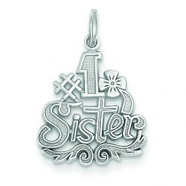 Sister Charm in 14k White Gold