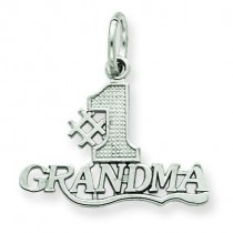 Grandma Charm in 14k White Gold