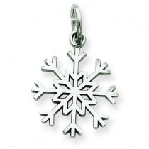 Snowflake Charm in 14k White Gold
