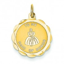 Maid Of Honor Charm in 14k Yellow Gold