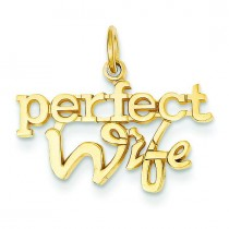 Perfect Wife Charm in 14k Yellow Gold