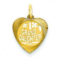 Granddaughter Charm in 14k Yellow Gold