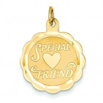 Special Friend Charm in 14k Yellow Gold